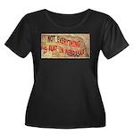 Flat Nebraska Women's Plus Size Scoop Neck Dark T-