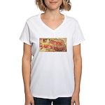 Flat Nebraska Women's V-Neck T-Shirt