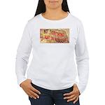 Flat Nebraska Women's Long Sleeve T-Shirt
