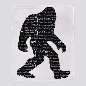 Bigfoot Sasquatch Yowie Yeti Yaren S Throw Blanket