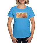 Flat Nebraska Women's Dark T-Shirt
