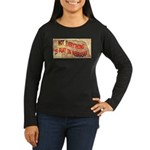 Flat Nebraska Women's Long Sleeve Dark T-Shirt
