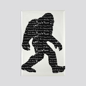 Bigfoot Sasquatch Yowie Yeti Yare Rectangle Magnet