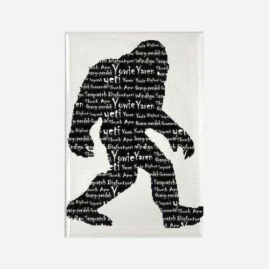 Bigfoot Sasquatch Yowie Yeti Yare Rectangle Magnet