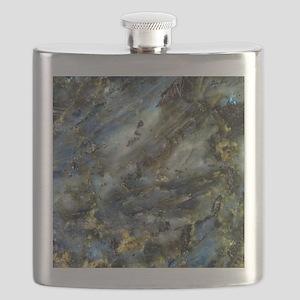 4x4 Square Labradorite Flask