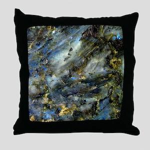 4x4 Square Labradorite Throw Pillow