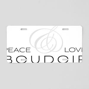 PLB Aluminum License Plate