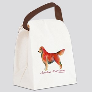 GoldenRetrieverCOLOR Canvas Lunch Bag