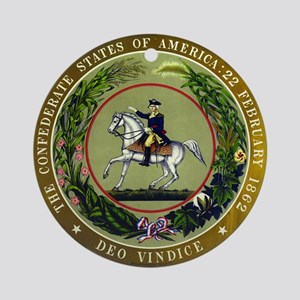 Seal of the Confederacy Round Ornament