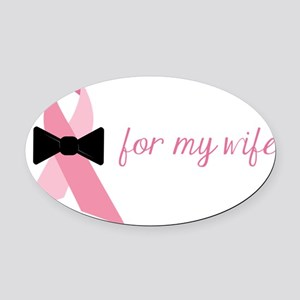For My Wife Oval Car Magnet