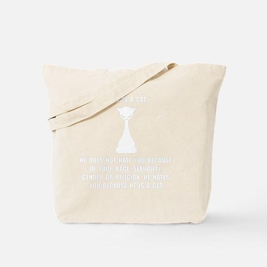 Cat Hates Tote Bag