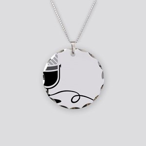On The Air Necklace Circle Charm