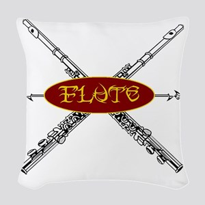 Flute Tribal Woven Throw Pillow