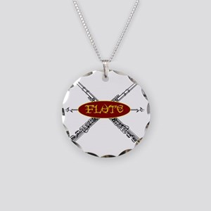 Flute Tribal Necklace Circle Charm
