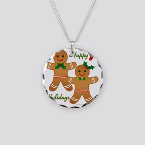 Gingerbread Man - Boy Girl Necklace Circle Charm