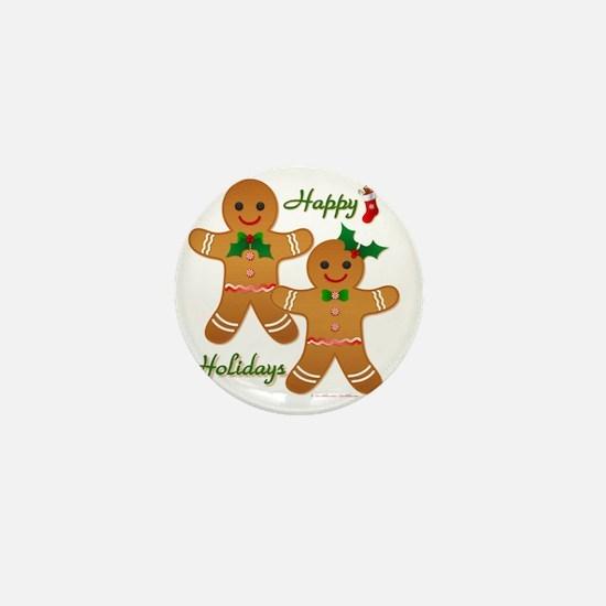 Gingerbread Man - Boy Girl Mini Button