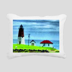 Point Judith Light Rectangular Canvas Pillow