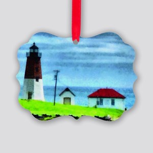 Point Judith Light Picture Ornament