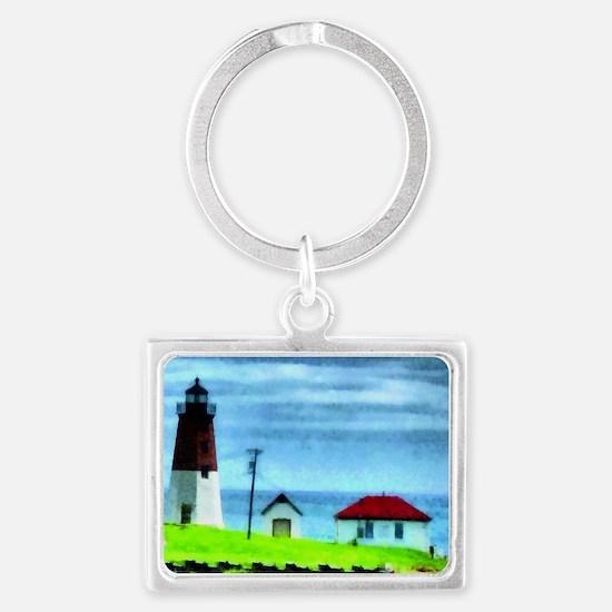 Point Judith Light Landscape Keychain