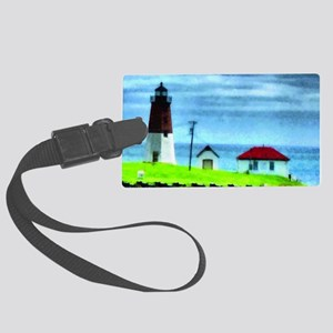 Point Judith Light Large Luggage Tag
