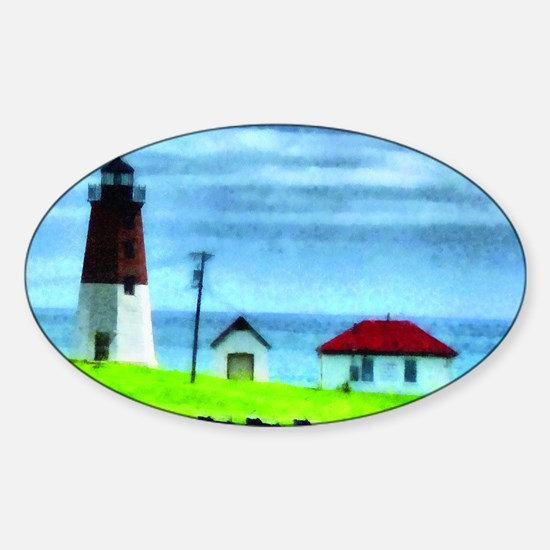 Point Judith Light Sticker (Oval)