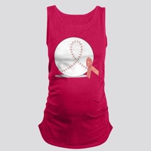 Baseball for Breast Cancer Maternity Tank Top