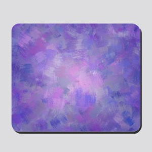 Pink, purple and lavender canvas Mousepad