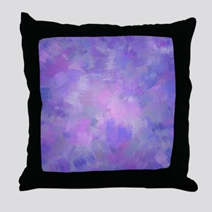 Pink, purple and lavender canvas Throw Pillow