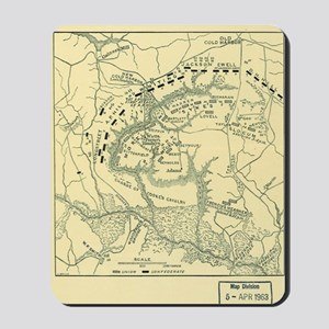Map Battle of Cold Harbor Mousepad