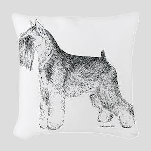 Miniature_Schnauser_Terrier020 Woven Throw Pil