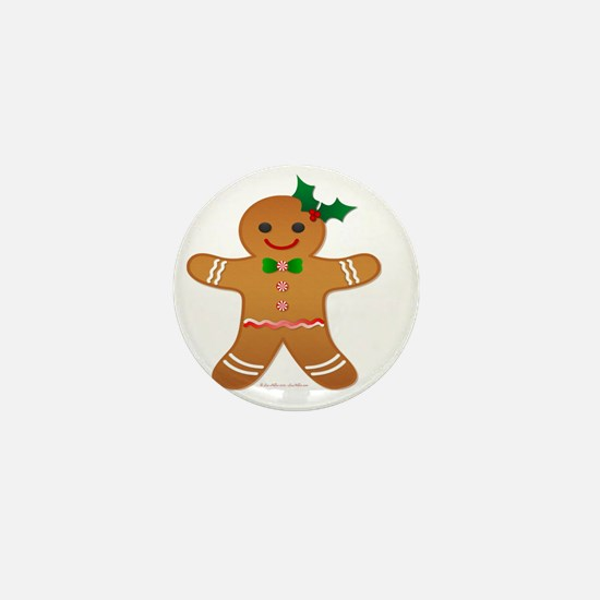 Gingerbread Man - Girl Mini Button