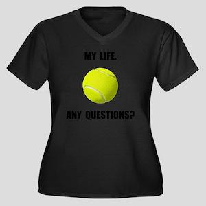My Life Tenn Women's Plus Size Dark V-Neck T-Shirt