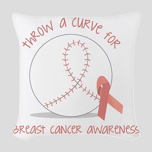 Throw a Curve Woven Throw Pillow