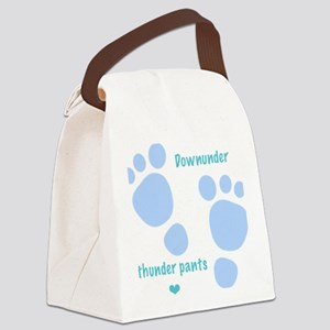 Downunder thunder pants - blue Canvas Lunch Bag
