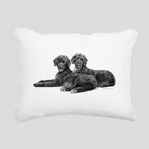 Portuguese Water Dogs Rectangular Canvas Pillo