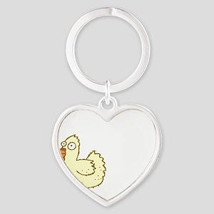 Chicken Butt Heart Keychain