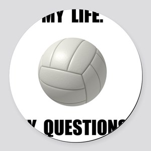 My Life Volleyball Round Car Magnet