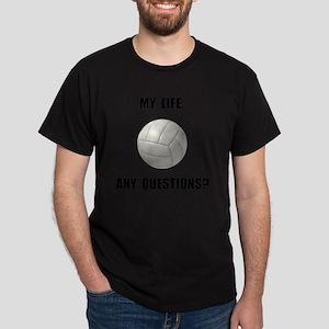 My Life Volleyball Dark T-Shirt