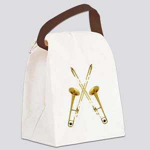 Trombones Kick Brass! Canvas Lunch Bag