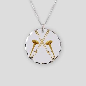 Trombones Kick Brass! Necklace Circle Charm