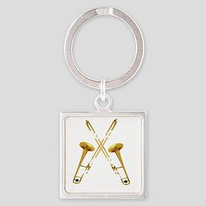Trombones Kick Brass! Square Keychain