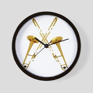 Trombones Kick Brass! Wall Clock