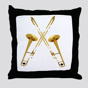 Trombones Kick Brass! Throw Pillow