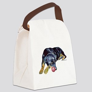 RottieBall Canvas Lunch Bag