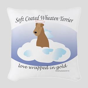SCWTwrappedinGold Woven Throw Pillow