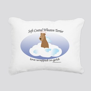 SCWTwrappedinGold Rectangular Canvas Pillow