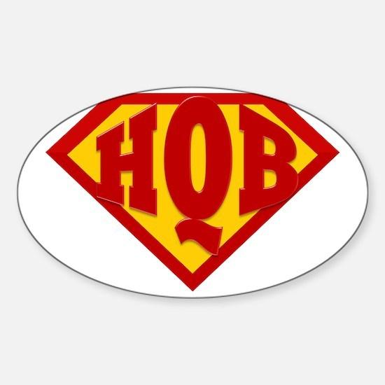 HQB HH Logo Sticker (Oval)