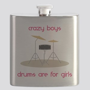 Drums Are For Girls Flask