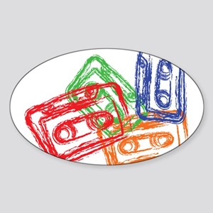 Mix tapes Oval Sticker