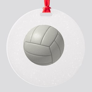 My Life Volleyball Round Ornament
